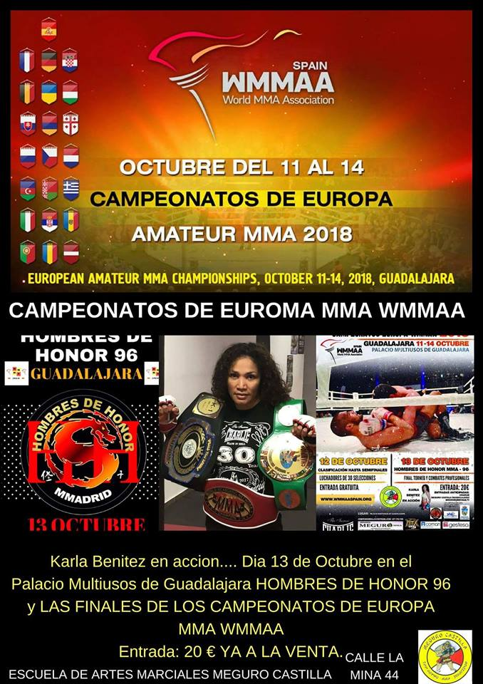 CAMPEONATOS DE EUROPA AMATEUR MMA 2018